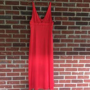Vintage Vanity Fair Long Nightgown Red Boudoir 36